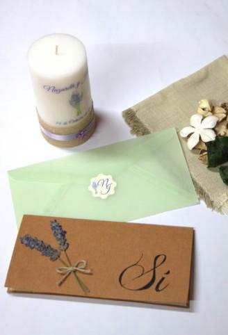 Invitación de boda estilo rústico
