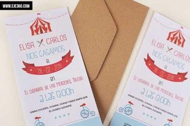 Invitación de boda - Circo