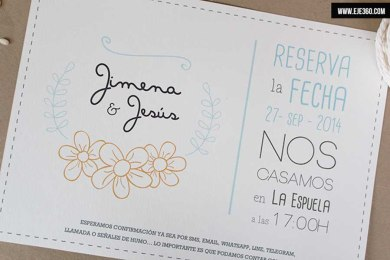 Invitación de boda - Guirnalda de flores