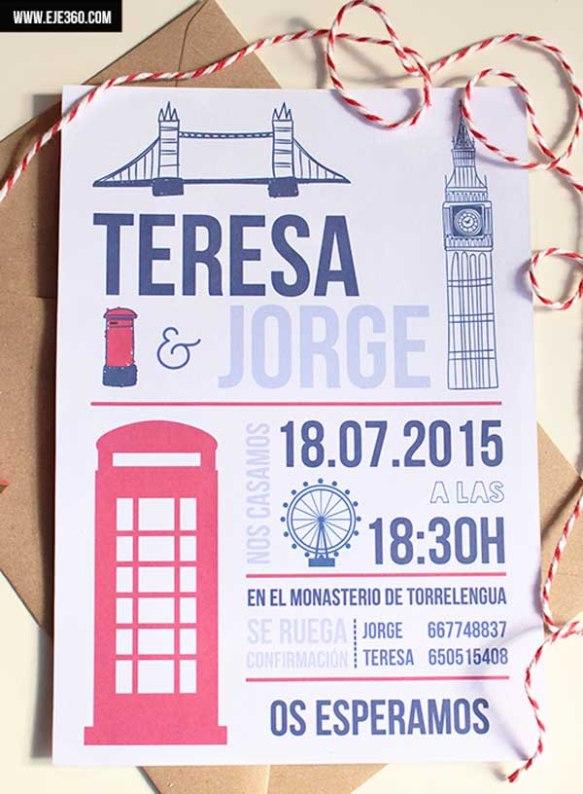 Invitación de boda - Londres