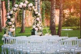 Guirnalda de flores para bodas