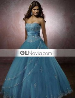 vestido de gala sin tirantes_azul