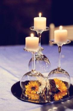 Decoración de velas en copas_ por buzzfeed
