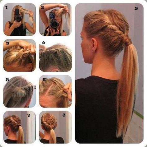 Peinado sencillo en coleta_por aqui moda