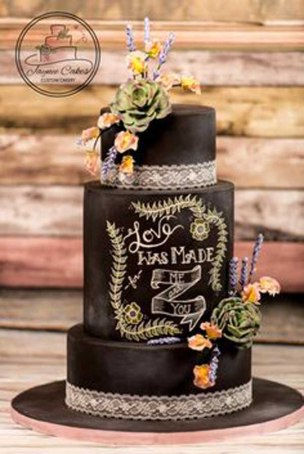 Wedding cake _ love was made