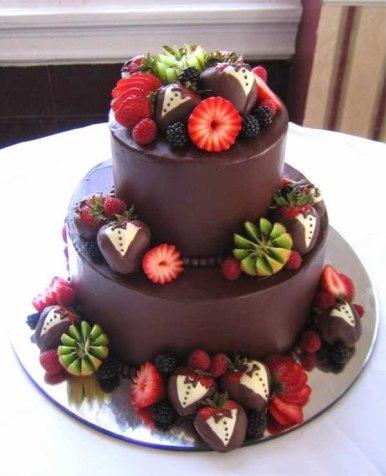 Tarta de boda_explosión de chocolate