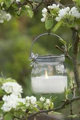 Vela en tarro de cristal_farolillo_bodas de jardín
