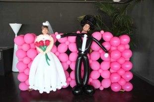 Globoescultura_Novios de globos_decoracion con globos