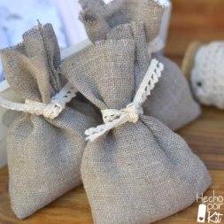 saquitos lino para arroz bodas hecho por kit