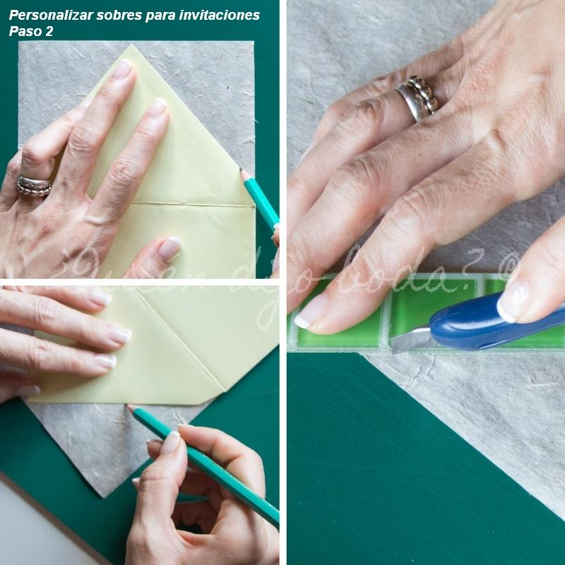 para que el papel decorativo permita cerrar el sobre y quede ms elegante tendrs que dejar sin forrar la parte al adhesivo o la zona