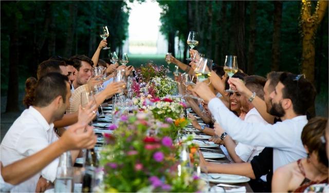 boda celebrando