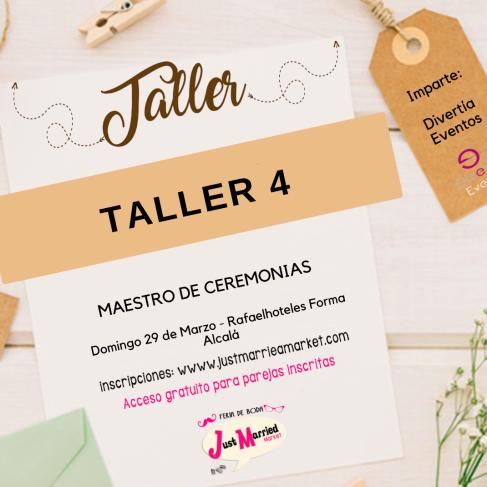 16:30h TALLER 4: MAESTRO DE CEREMONIAS
